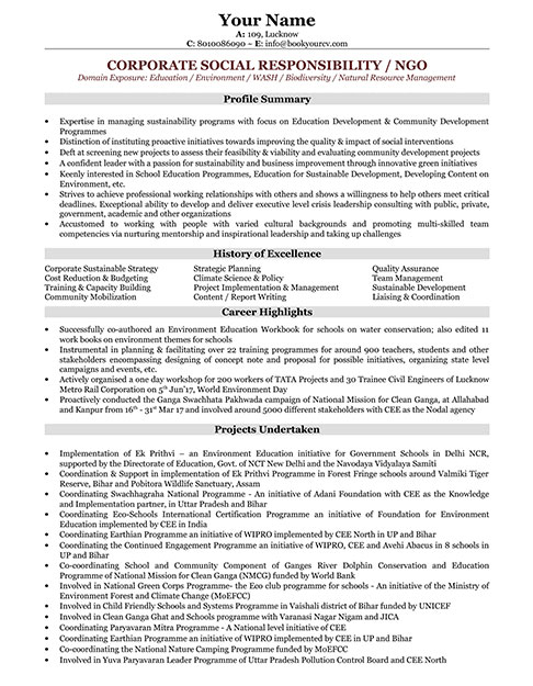 NGO-Manager Sample Digital Resume Format on job application, for high school students,